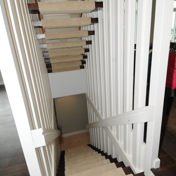 custom stairwell built for the Mavis residence