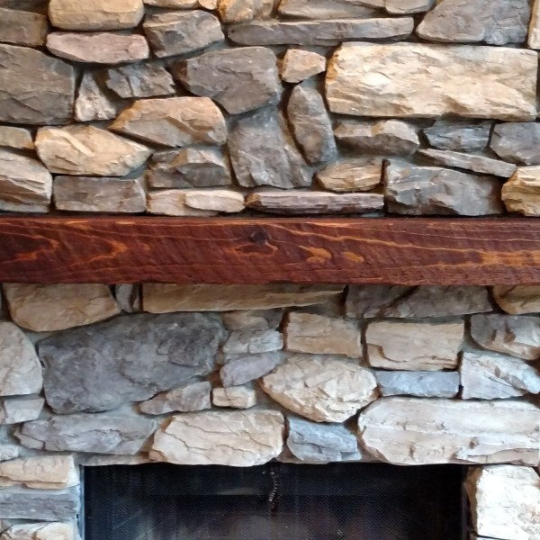 Distressed Cedar mantle