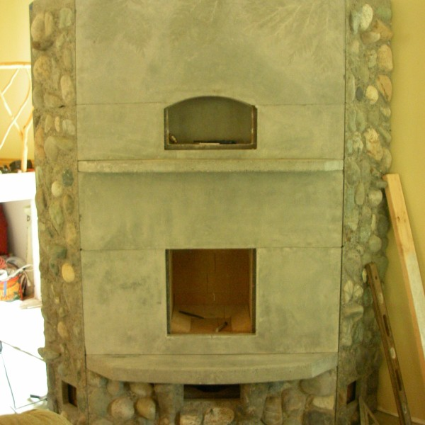 Finnish Fireplace before painting