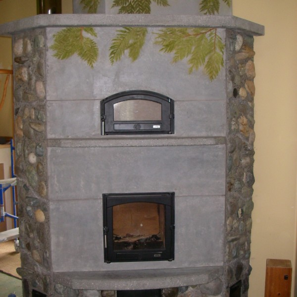 Newly constructed Finnish Fireplace