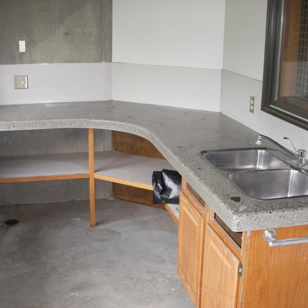 Gary's gray granite countertop