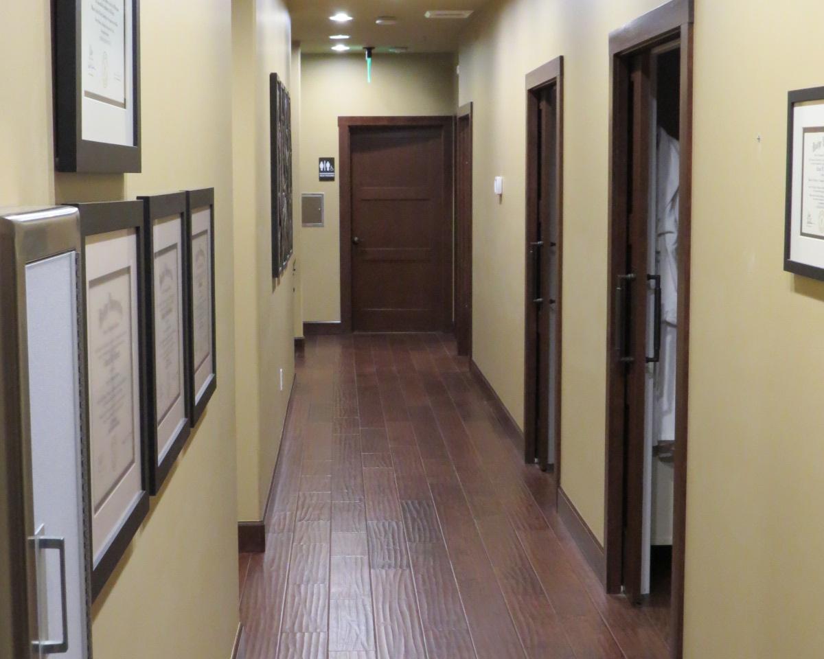 Hall way at Naturo Medica clinic