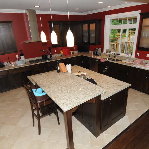 kitchen at the newly remodeled Mavis residence