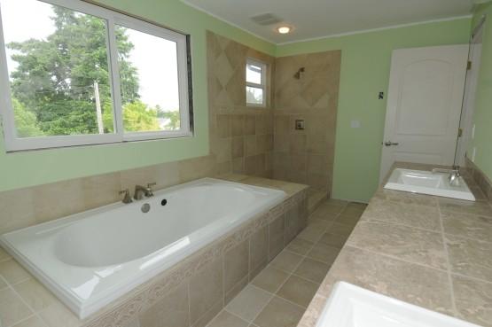 Master bath at the newly-remodeled Mavis residence