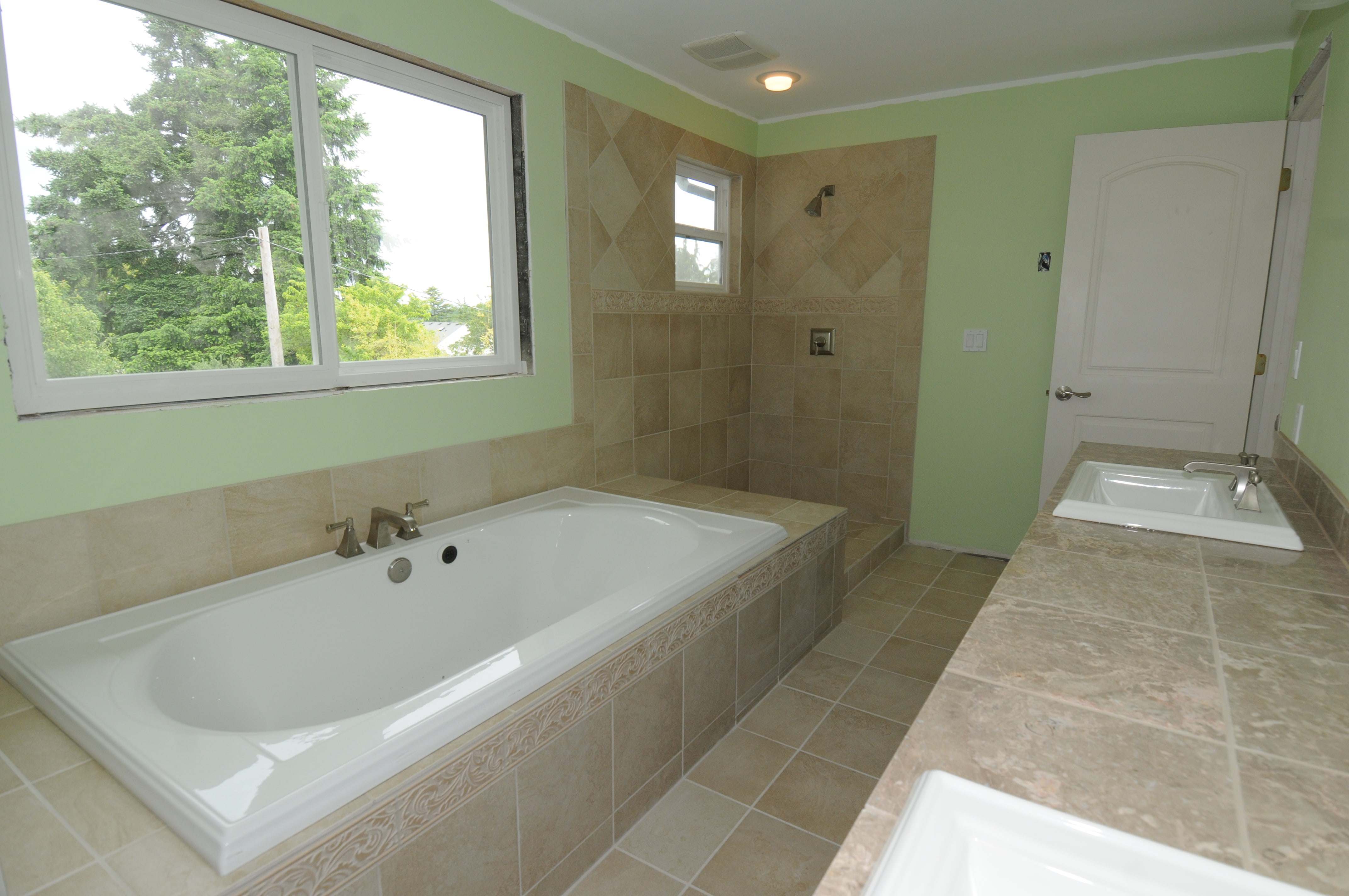 Master bath at the newly-remodeled Mavis residence