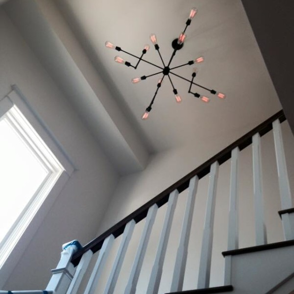lighting at the stairs