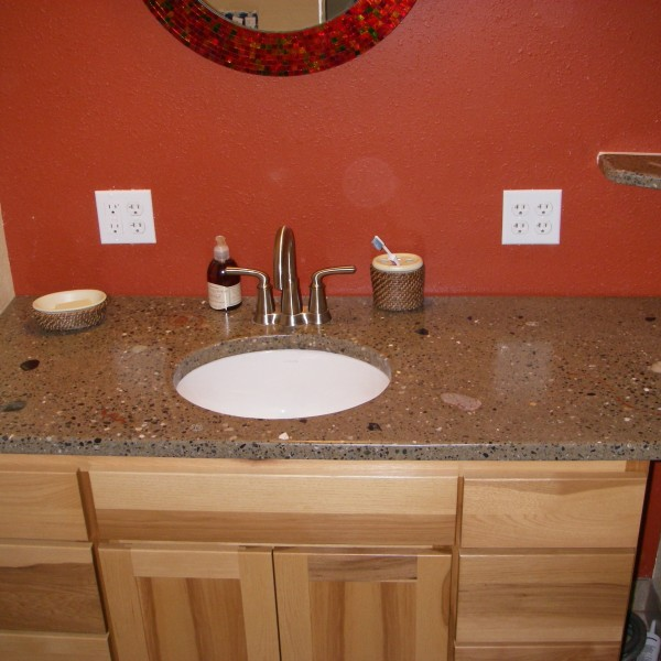 Residential bathroom countertop