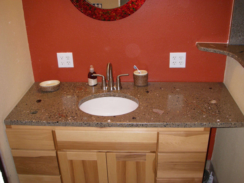 Residential bathroom countertop