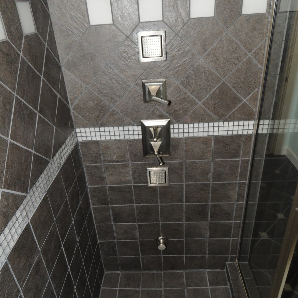 Interior of the steam shower at the newly-renovated Mavis Home