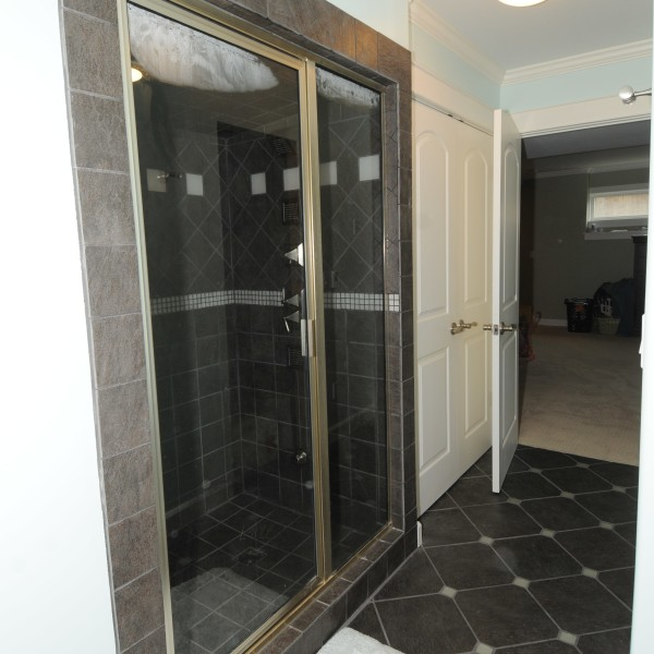 Steam shower at the newly-renovated Mavis Home