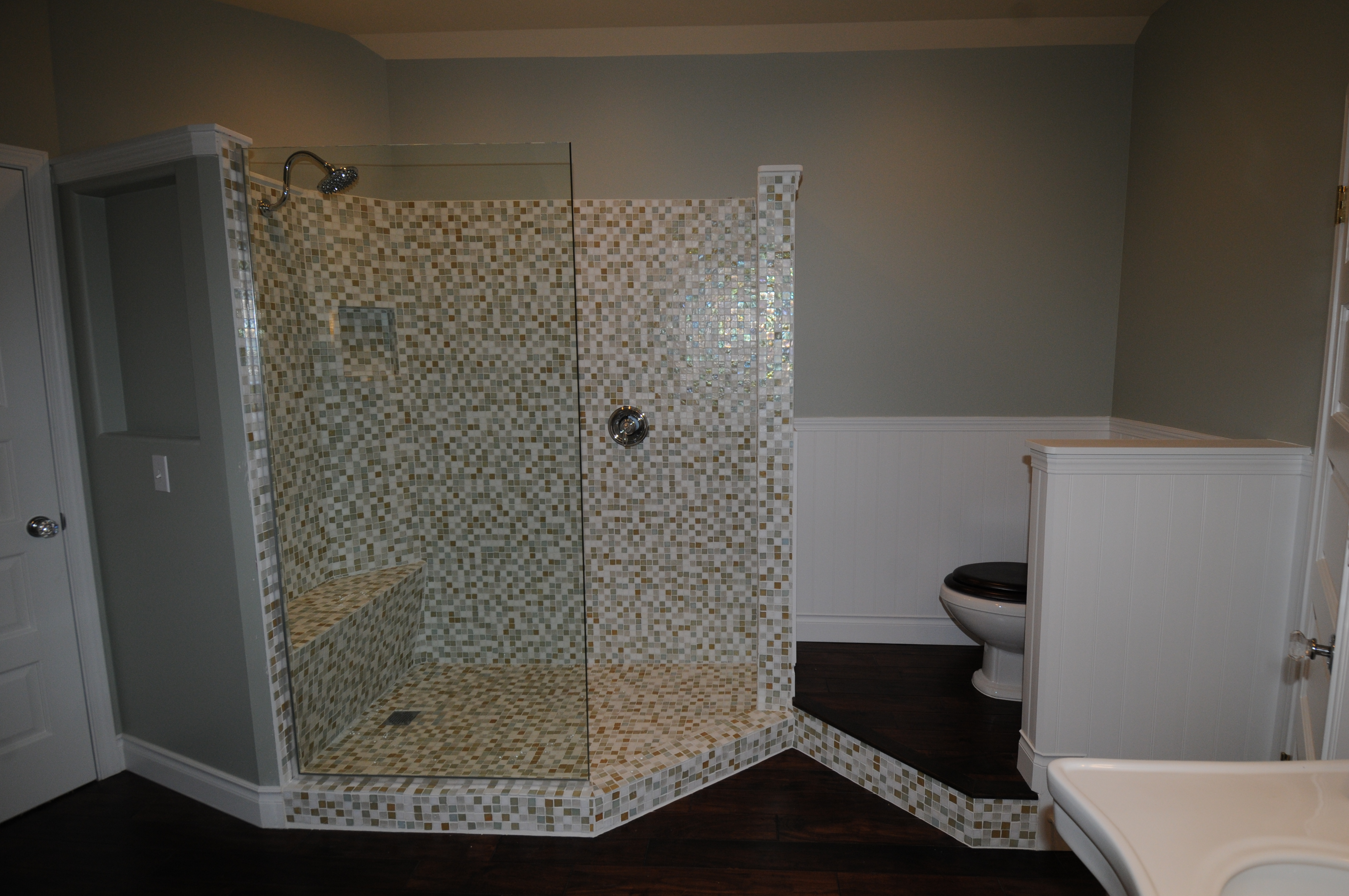 Shower Area of the Kennedy House Bath After Renovation